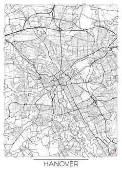 Mapa Hanover
