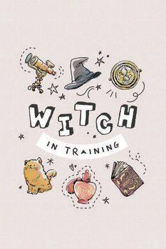 Plakát Harry Potter - Boszorkány az edzésen