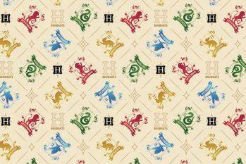 Umelecký tlač Harry Potter - Crests