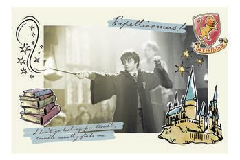 Plakat Harry Potter - Expelliarmus