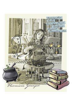Umjetnički plakat Harry Potter - Hermiona Granger