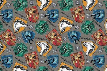 Umelecký tlač Harry Potter - Hogwarts crests