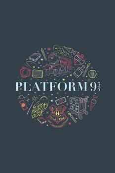 Umjetnički plakat Harry Potter - Platforma 9 3/4