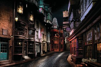 Umelecký tlač Harry Potter - Šikmá ulička