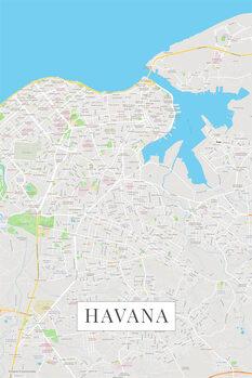Mapa Havana color