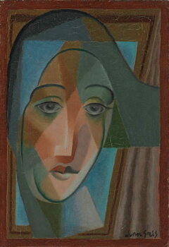 Obrazová reprodukce Head of a Harlequin; Tete d'Arlequin, 1924