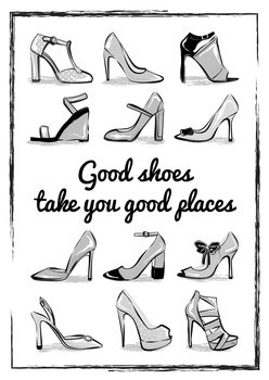 iIlustratie Heels Quote
