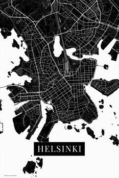 Mapa Helsinki black