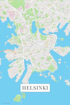 Mapa Helsinki color