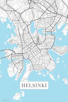 Mapa Helsinki white