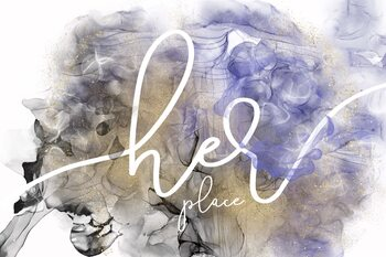 Ilustrace Her place - alcohol ink rage