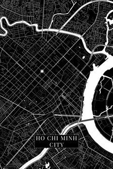 Mapa Ho Chi Minh City black
