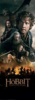 Plakat Hobbit - Bitwa Pięciu Armii