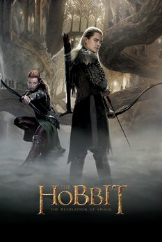 Konsttryck Hobbit - Smaugs ödemark