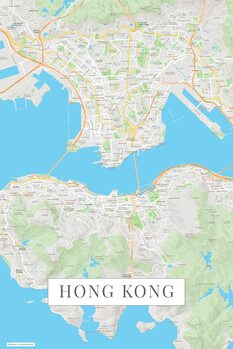 Mapa Hong Kong color