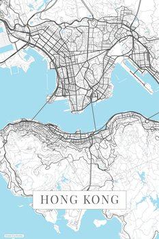 Mapa Hong Kong white