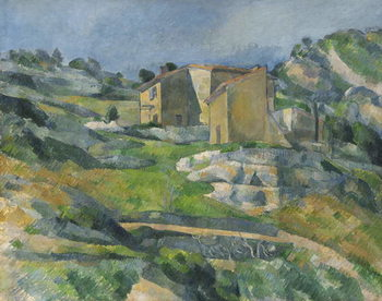 Houses in the Provence: The Riaux Valley near L'Estaque, c.1833 Kunstdruk