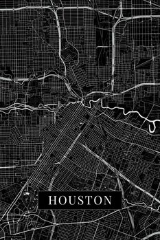 Mapa Houston black