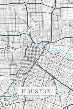 Mapa Houston white