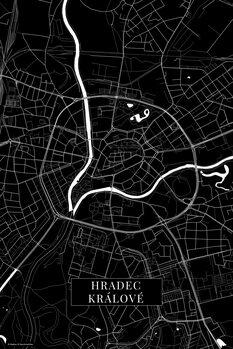 Mapa Hradec Kralove black