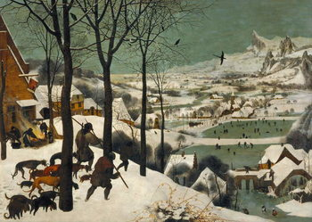 Hunters in the Snow (Winter), 1565 Reproduction de Tableau