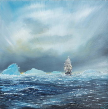 Ice Dominion, Terra Nova passes Ice Burgs, 2014, Reproduction de Tableau