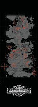Umjetnički plakat Igra prijestolja - Karta