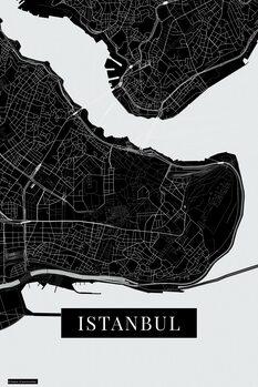 Mapa Instanbul black