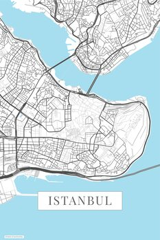 Mapa Instanbul white
