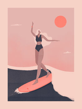 Ilustrace Into the surf