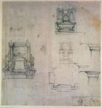 Inv. 1859 6-25-545. R. (W. 25) Designs for tombs Kunsttryk