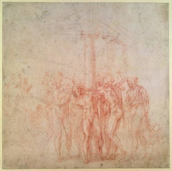 Kunstdruck Inv. 1895 6-15-500. R.  The Flagellation of Christ
