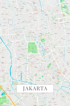 Mapa Jakarta color