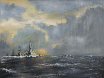Konsttryck Japanese fleet in Pacific 1942, 2013,
