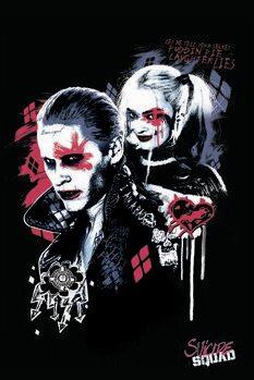 Umelecký tlač Jednotka samovrahov - Harley a Joker