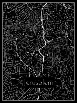 Mapa Jerusalem