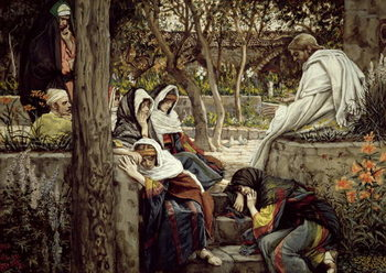 Reproducción de arte  Jesus at Bethany, illustration for 'The Life of Christ', c.1886-96