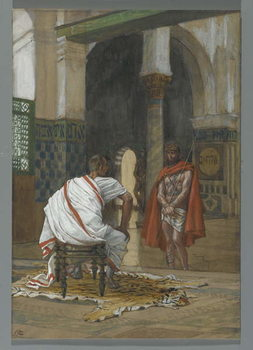 Reproducción de arte  Jesus Before Pilate - Second Interview, illustration from 'The Life of Our Lord Jesus Christ', 1886-94
