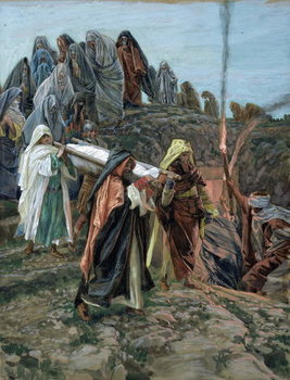 Reproducción de arte  Jesus Carried to the Tomb, illustration for 'The Life of Christ', c.1886-94