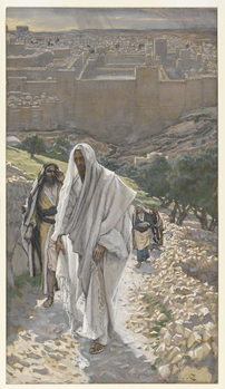 Jesus goes in the Evening to Bethany, illustration from 'The Life of Our Lord Jesus Christ', 1886-94 Kunstdruck
