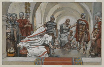 Reproducción de arte  Jesus Led from Herod to Pilate, illustration from 'The Life of Our Lord Jesus Christ', 1886-94