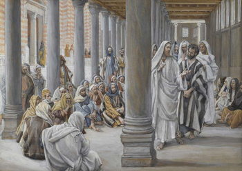 Reproducción de arte  Jesus Walks in the Portico of Solomon, illustration from 'The Life of Our Lord Jesus Christ', 1886-96