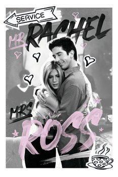 Plakát Jóbarátok - Rachel & Ross