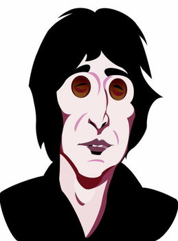 Εκτύπωση έργου τέχνης John Lennon, English singer, songwriter , colour 'graphic' caricature