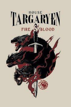 Póster Juego de tronos - House Targaryen