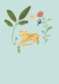 Ilustrare Jungle leopard
