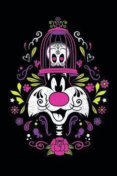 Umělecký tisk Kačer Daffy - Sylvester