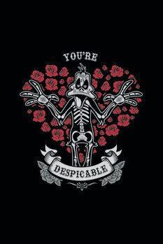 Umělecký tisk Kačer Daffy - You're despicable