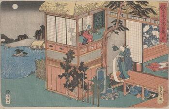 Reprodukcja Kanadehon Chūshingura: Act VII, mid 1830s