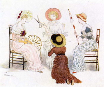 Konsttryck 'Kate Greenaway before the fates'